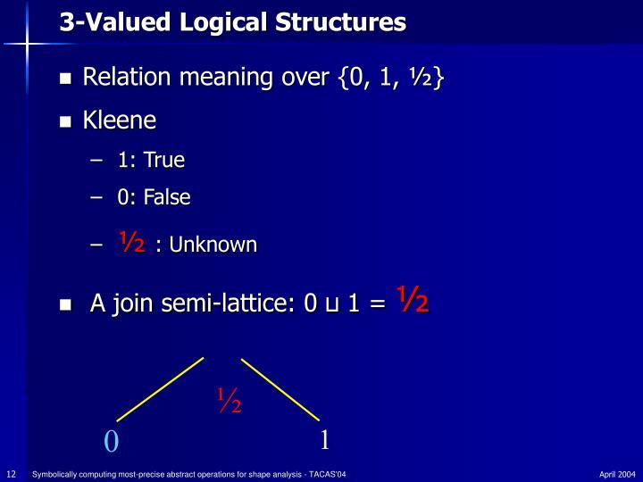 3-Valued Logical Structures