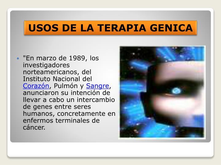 """""""En marzo de 1989, los investigadores norteamericanos, del Instituto Nacional del"""