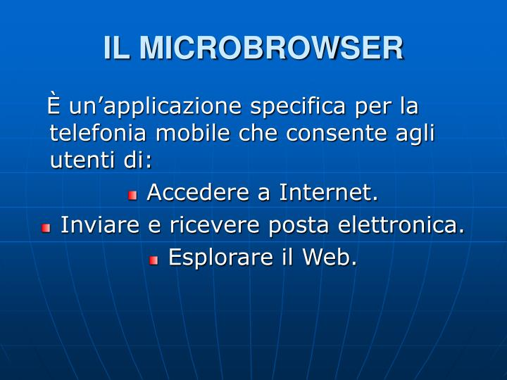 IL MICROBROWSER