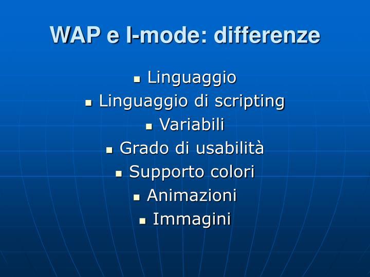 WAP e I-mode: differenze