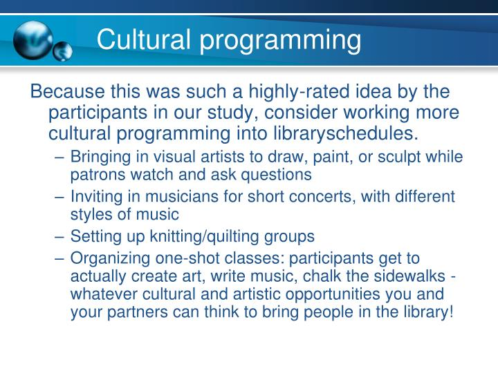 Cultural programming