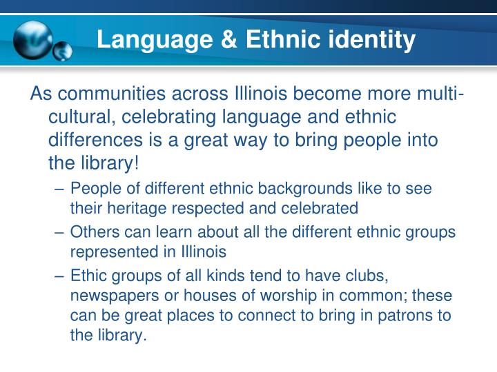 Language & Ethnic identity
