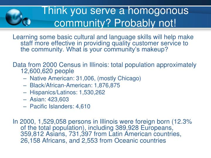 Think you serve a homogonous community? Probably not!