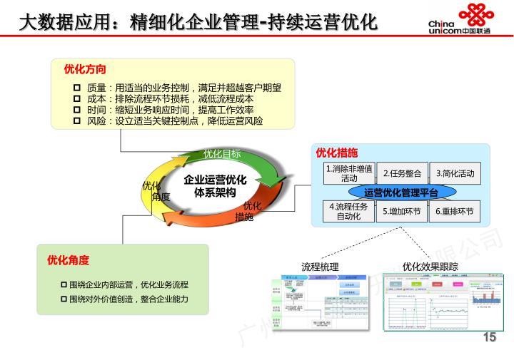 大数据应用:精细化企业管理