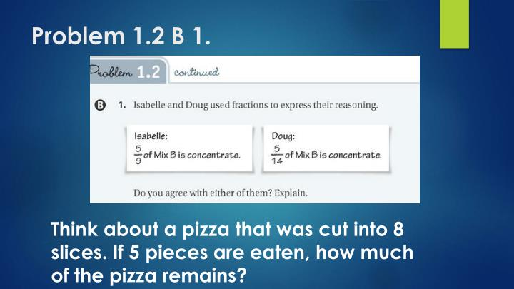 Problem 1.2 B 1.