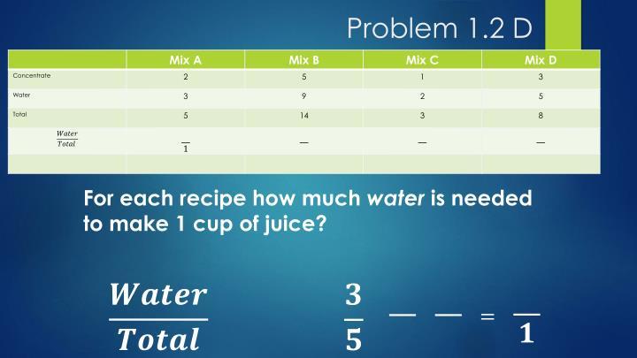 Problem 1.2 D