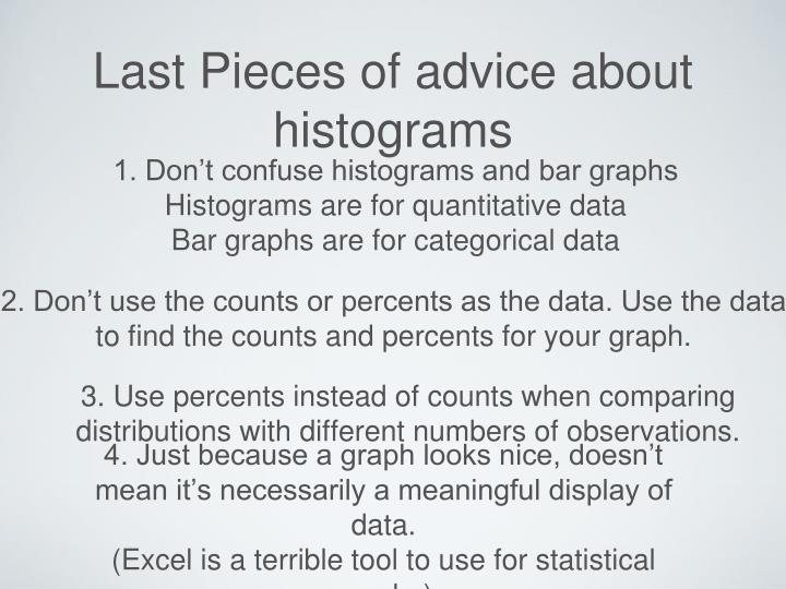 2. Don't use the counts or percents as the data. Use the data to find the counts and percents for your graph.