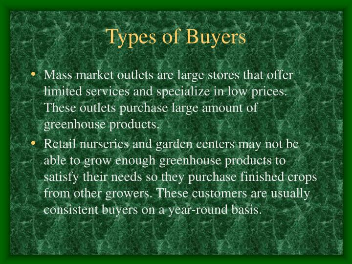 Types of Buyers