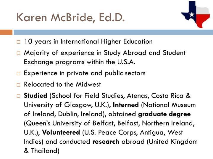 Karen McBride, Ed.D.