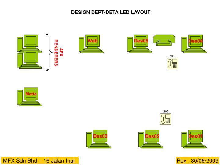 DESIGN DEPT-DETAILED LAYOUT