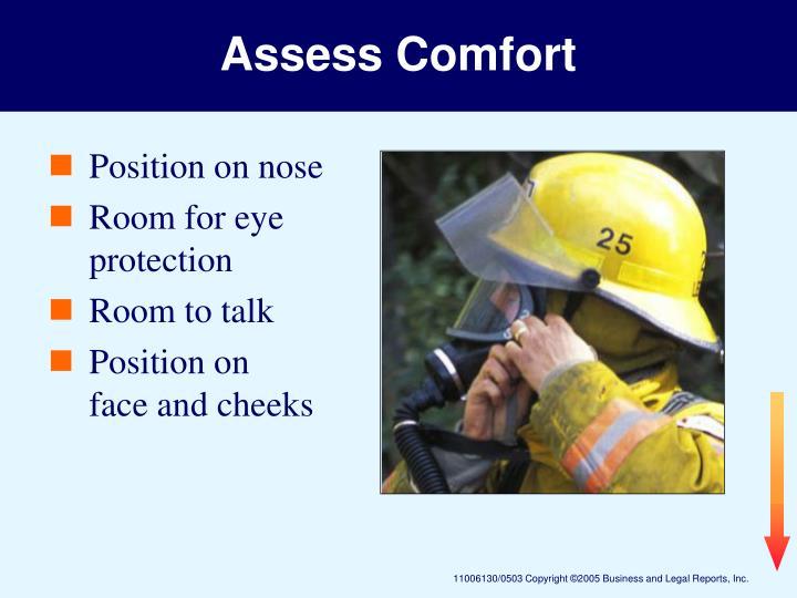 Assess Comfort