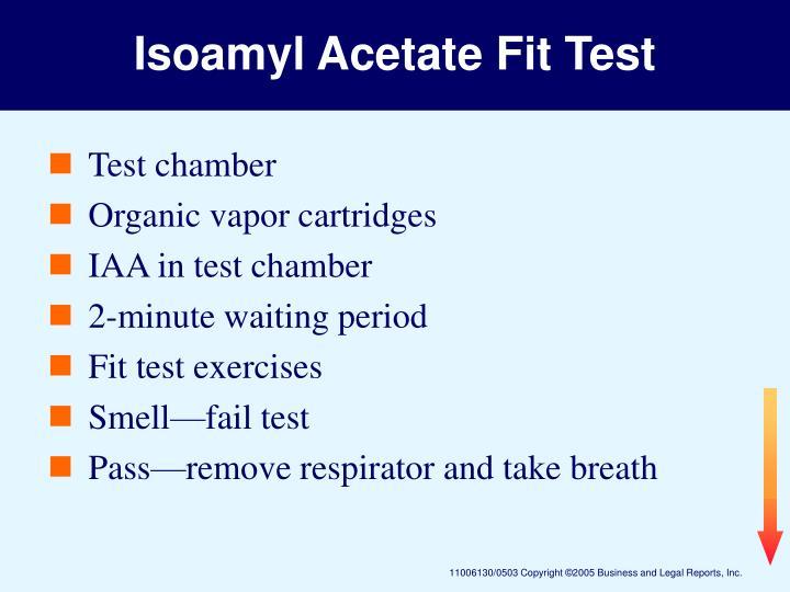 Isoamyl Acetate Fit Test