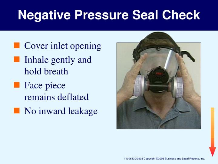Negative Pressure Seal Check