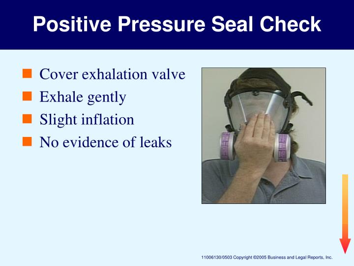 Positive Pressure Seal Check