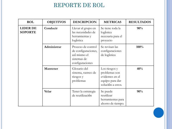 REPORTE DE ROL