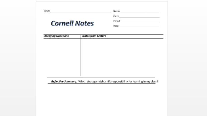 Cornell Notetaking