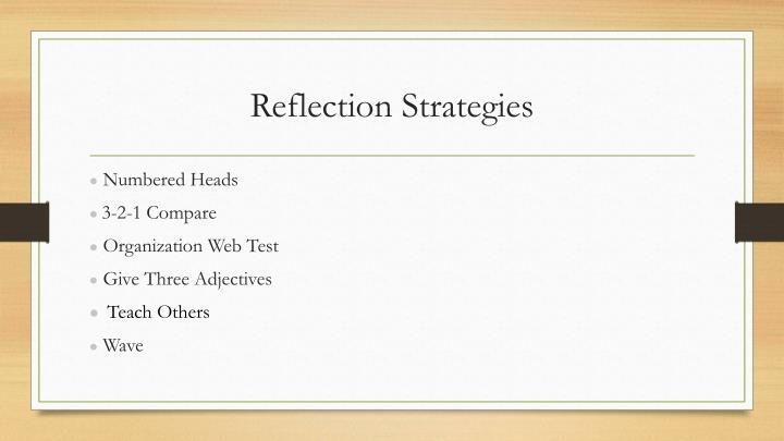 Reflection Strategies