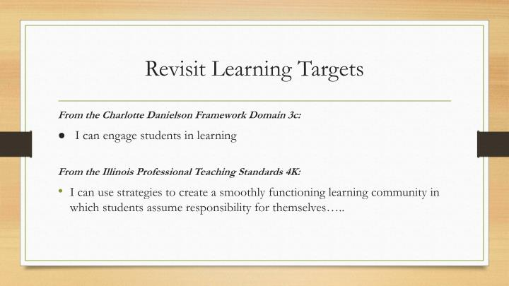 Revisit Learning Targets