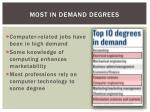 most in demand degrees