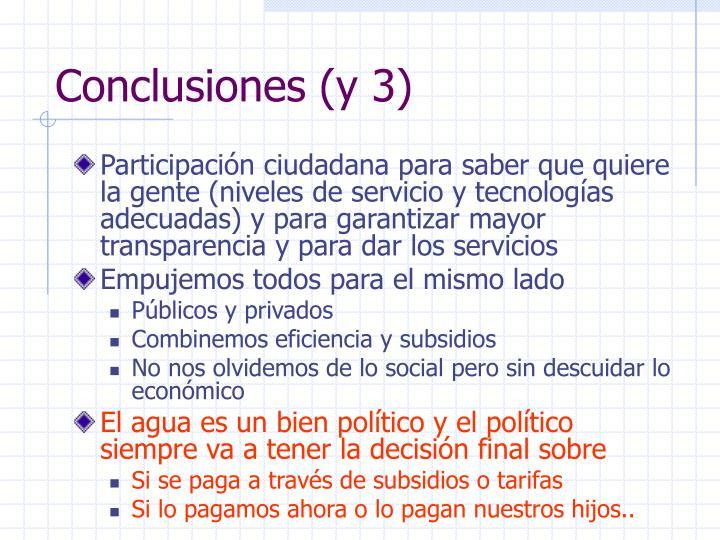 Conclusiones (y 3)