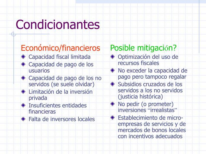 Económico/financieros