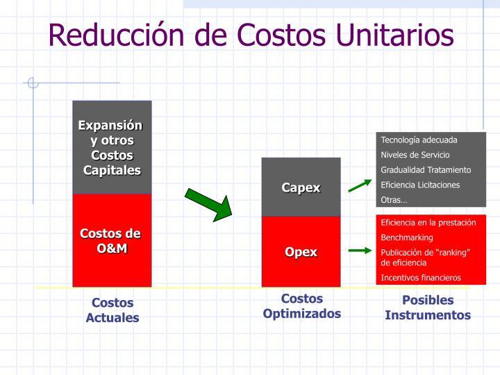 Reducción de Costos Unitarios