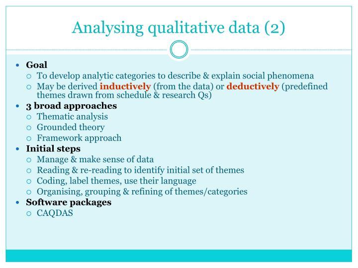 Analysing qualitative data (2)