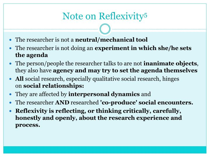 Note on Reflexivity