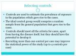 selecting controls