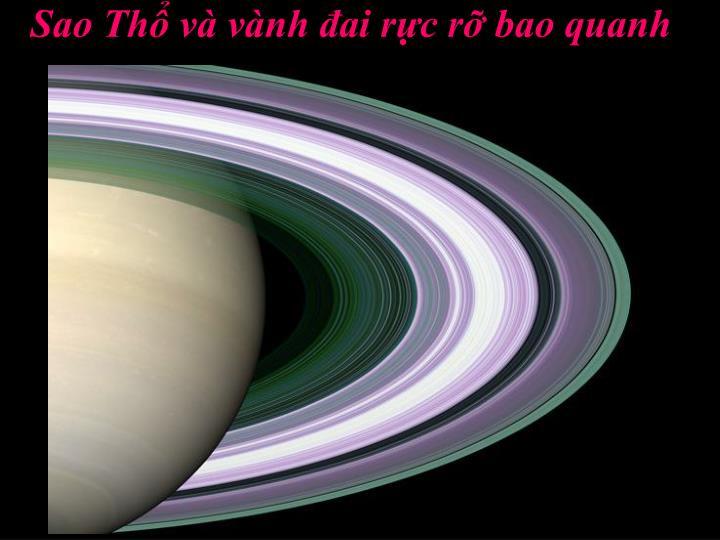 Sao Thổ và vành đai rực rỡ bao quanh