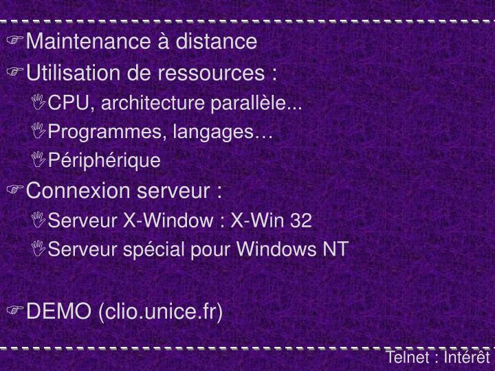 Maintenance à distance