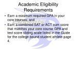 academic eligibility requirements1