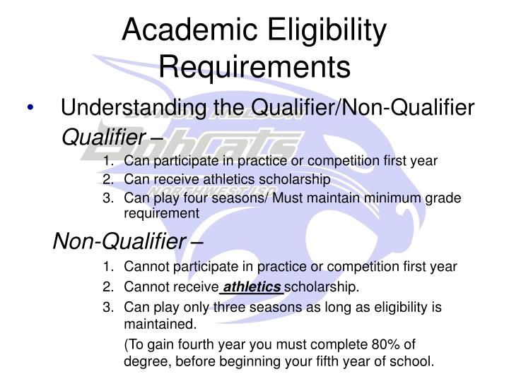 Academic Eligibility Requirements