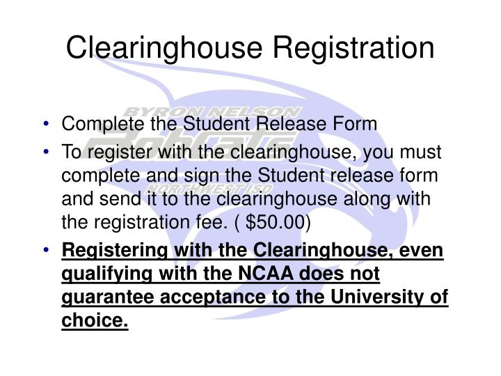 Clearinghouse Registration