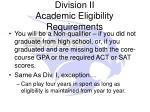 division ii academic eligibility requirements4