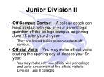 junior division ii1