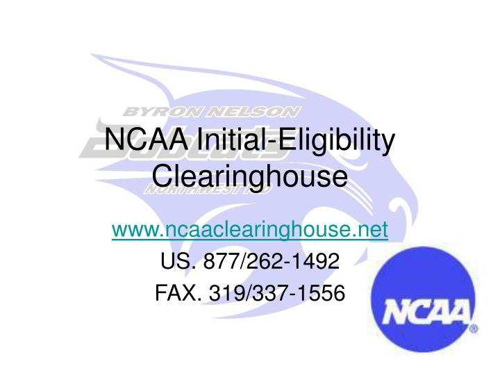 NCAA Initial-Eligibility