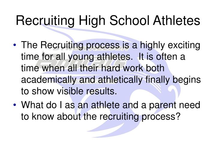 Recruiting High School Athletes
