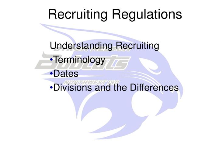 Recruiting Regulations