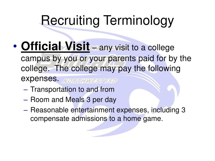 Recruiting Terminology