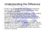 understanding the difference
