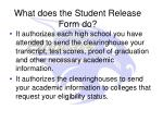 what does the student release form do