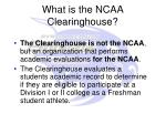 what is the ncaa clearinghouse