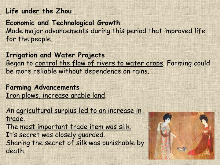 Life under the Zhou