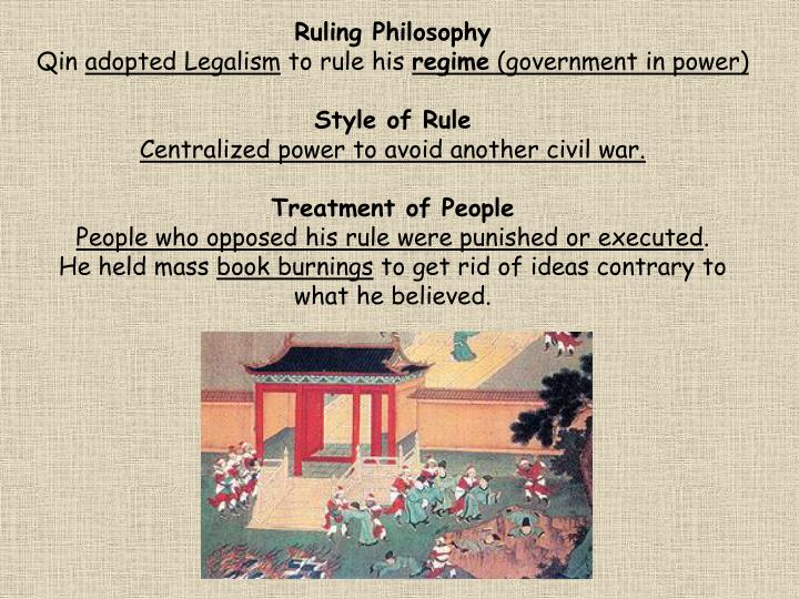 Ruling Philosophy