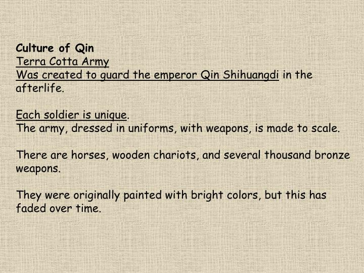 Culture of Qin