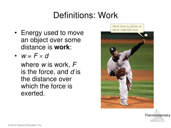 Definitions: Work