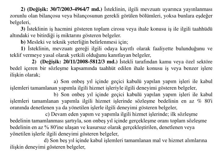 2) (Deiik: 30/7/2003-4964/7 md.)