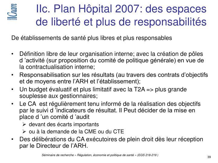 IIc. Plan Hôpital 2007: des espaces de liberté et plus de responsabilités