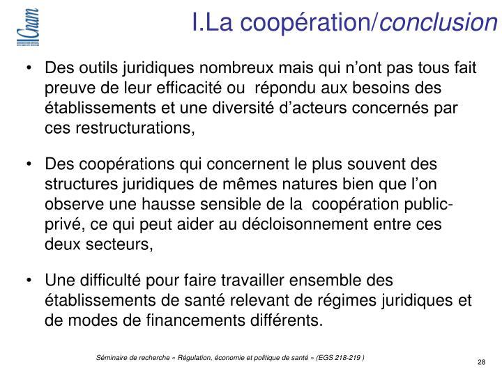 I.La coopération/